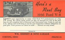 1936 Ford V8 - Here'S A Real Buy - Corning Ohio - Vintage Advertising Postcard