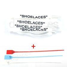 """SHOELACES"" Flat Laces Zip Tie Replacement Off-White ""The Ten"" Air Jordan 1 max"