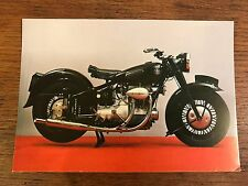 Vintage 1947 Sunbeam S7 500cc National Motorcycle Museum Postcard