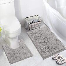 Soft Shaggy Bathroom Rugs Luxury Chenille 2 Piece Mats, Soft Plush Toilet Mat Mi