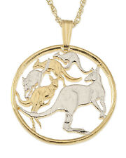 "Kangaroo Pendant & Necklace Australian Coin 7/8"" in diameter ( # 784 )"