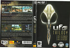 UFO TRILOGIA: PC DVD Gioco in scatola + manuali UFO. indomani Scossa di assestamento afterlight