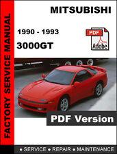 MITSUBISHI 3000GT 1990 - 1993 FACTORY OEM SERVICE REPAIR WORKSHOP FSM MANUAL