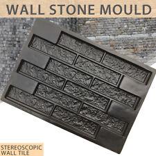 Plastic Concrete Molds Plaster Wall Stone Cement Tiles Mould Brick Form Garden