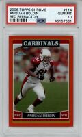 2006 Topps Chrome Anquan Boldin #114 Red Refractor /259 PSA 10 Gem Mint POP 1