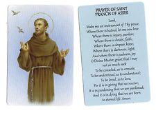 Prayer of Saint Francis of Assisi  (Lot of 2) Laminated catholic prayer cards