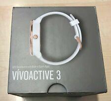 Garmin Vivoactive 3 Smartwatch Rose Gold - White Silicon Band - Boxed Grade A