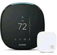 New Sealed ecobee4 Alexa-Enabled Thermostat with Sensor, Works with Amazon Alexa