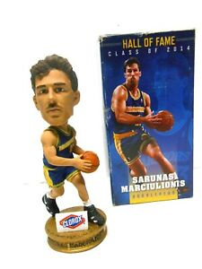 Golden State Warriors Basketball Sarunas Marciulionis Hall of Fame Bobblehead