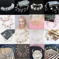 Wedding Hair Vine Bridal Accessories Crystal Pearl Headband Chain Headpiece New