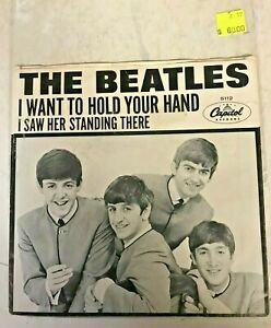THE BEATLES I WANT TO HOLD YOUR HAND PICTURE SLEEVE 45 CAP 5112 1964 ORIGINAL