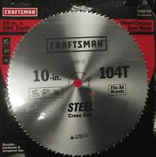 "Craftsman 26813 10"" x 104 Tooth Saw Blade Heat-Treated Steel"