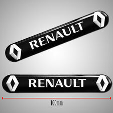 2 RENAULT 3D SILICONE STICKERS DOMED BADGE WHEEL CAR AUTO MOTO TUNING E 153