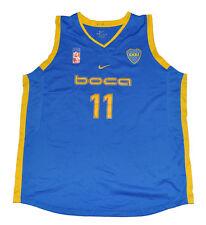 Boca Junior Basketball jersey NIKE player used XXL Blue 11 2XL unisex adult