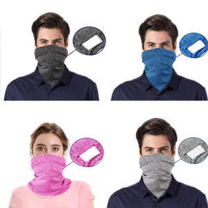 Women Men Reusable Face Neck Mask Bandana Headband Cap Biker Balaclava + Filter
