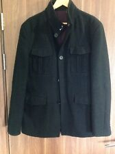 BLAZER COAT MEN DESIGNER COAT BLACK WINTER COAT MEN UK SIZE MEDIUM COAT MEN UK M