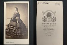 Pierre Petit, Paris, Zoé Bélia, soprano Vintage carte de visite, CDV. Victorin