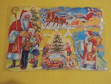 1x Poesiebilder Oblaten 123 Weihnachten Glanzbilder Kinder Weihnachtsmann Schlit