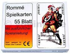 6x 55 Romme Karten Rommekarten Spielkarten Canasta Bridge Rommékarten Rommé