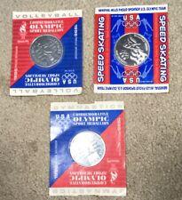 General Mills Cereals 1996 Atlanta Olympic Coins - Lot of 3 Skating Volleyball