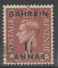 BAHRAIN SG53 1948 1½a on 1½d PALE BROWN FINE USED