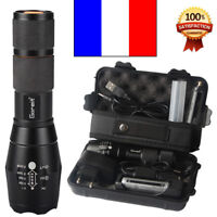20000LM lampe de poche led torche militaire batterie et chargeur