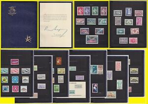 Belgium EXPO 1958 Presentation book complete of all MNH special issues.....A7274