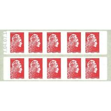 CARNET MARIANNE ROUGE D'YSEULT 10 TIMBRES