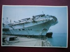 POSTCARD RP WWI FALKLANDS TASK FORCE - HMS HERMES PREPARES TO LEAVE WITH THE TAS
