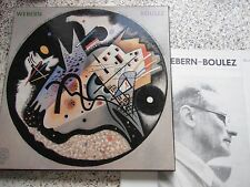 WEBERN : OPUS 1 - 31 - BOULEZ RARE BOXED SET 4 LPs + BOOKLET CBS MASTERWORKS N.M