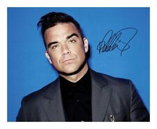ROBBIE WILLIAMS SIGNED AUTOGRAPHED A4 PP PHOTO POSTER
