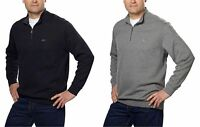 Greg Norman Men's Ribbed 1/4 Zip Mock Neck Sweater - Choose a size/color