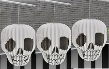 3 X 3D Colgante De Halloween Linterna calavera blanca estilo Decoraciones