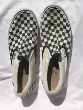 ae10574a32f9d1 Vans shoes Size 13 Classic Checkerboard Checker Slip On White Black canvas