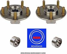 Front Wheel Hub &(OEM) NSK Bearing kit fit Honda Civic (Si model) 2006-11 (PAIR)