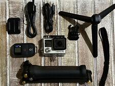 GoPro Hero4 Silver CHDHY-401 Camera-Genuine Remote+3-Way Arm/GripTripod Hero 4