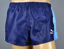 Puma Brillance Nylon Shorts!!! Vintage Short Short Bleu-Taille: l-6 (1337)