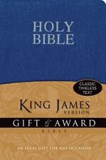 KJV, Gift and Award Bible, Imitation Leather, Blue, Red Letter Edition
