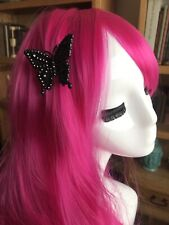 Tarina Tarantino Vintage Black Butterfly Swarovski Crystal Hair Clip Barrette
