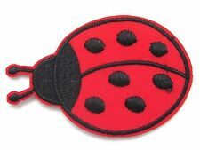 Ladybird Iron On Patch- Lady Bug Insect Badge Embroidered Applique Crafts
