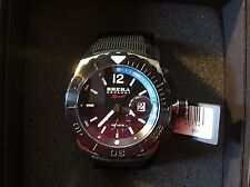 Brera Orologi Sport AQUA Diver Rubber Black Blue Watch BRSPAQ4806