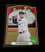 2021 Topps Heritage Chrome Javier Baez /72 Black Refractor - Cubs Sp Parrallel