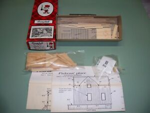 HO SCALE CAMPBELL KIT WOOD PICKENS' PLACE #395