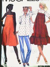 VINTAGE MATERNITY SUN DRESS, JUMPER, BLOUSE & PANTS Sewing Pattern 7468 12