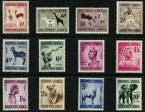 South West Africa Stamps QEII 1954 SG154/165 Set x 12 MM Cat £50 Good/Fine