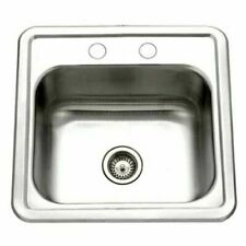 New listing Stainless Steel Single Bowl Square Bar Prep Kitchen Sink Top Mount