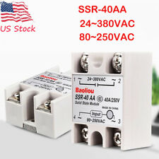 SSR-40AA 40A Solid State Relay Module 24-380V AC/ 80-250V AC