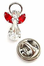 Elements Birthstone Guardian Angel Pin July Ruby with Swarovski Crystal
