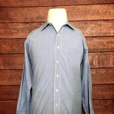 Brooks Brothers Est. 1818 No Iron Mens Shirts L/S Blue White Checker Sz 16 32/33