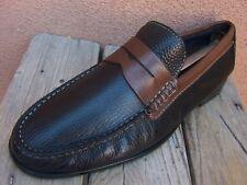 FLORSHEIM Mens Dress Shoes Soft Black Brown Leather Slip On Penny Loafer Size 9D